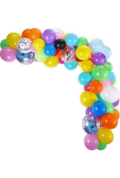 Pera Balon Parti Zincir Balon Seti 100'lü