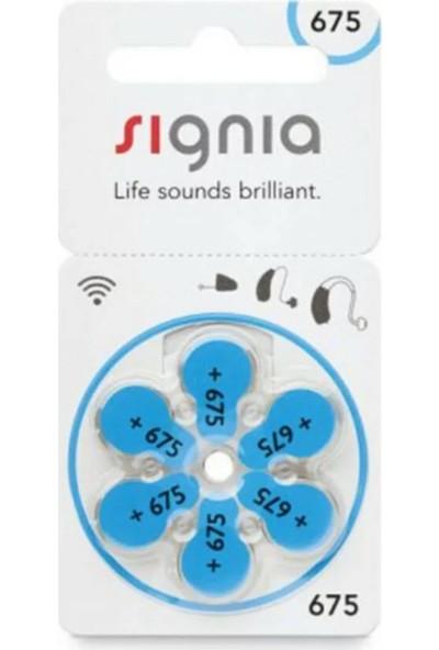 Signia 675 Numara Işitme Cihazı Pili 6'lı