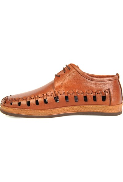 Dr. Best 645 Taba Deri Yazlık Erkek Comfort Ayakkabı