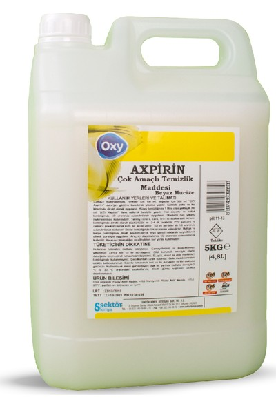 Oxy Axpirin Çok Amaçlı Temizlik ve Leke Çıkarıcı 5 lt