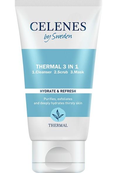 Celenes By Sweden Thermal 3in1 Peeling - Maske - Temizleyici 150 ml Tüm Ciltler