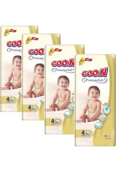Goon Premium Bebek Bezi 4 Beden 34'lü 4 Paket