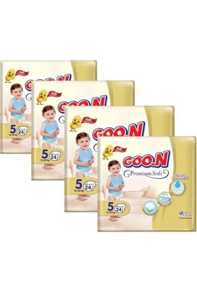 Goon Premium Bebek Bezi 5 Beden 24'lü 4 Paket