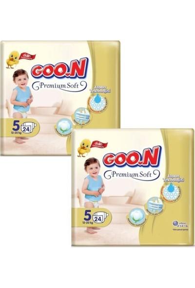 Goon Premium Bebek Bezi 5 Beden 24'lü x 2 Paket