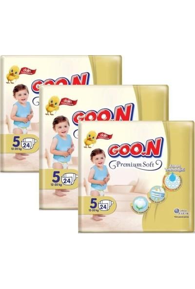 Goon Premium Bebek Bezi 5 Beden 24'lü 3 Paket