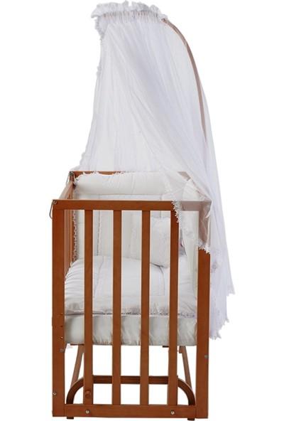 Baby Tech Extra Serisi Lüx Anne Yanı Tekerlekli Beşik 60 x 120 cm + Uyku Seti