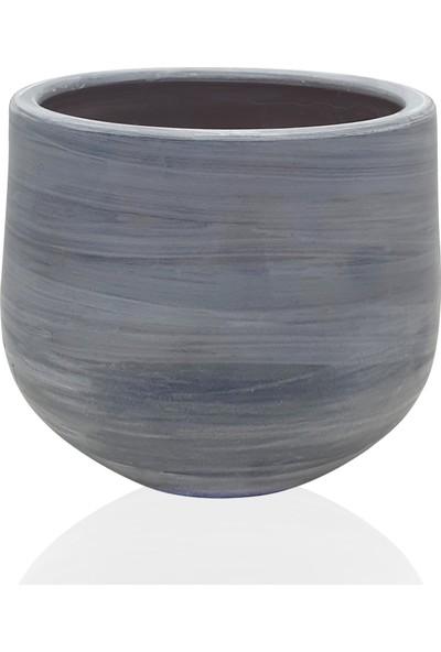 The Mia Kiremit Saksı 22 x 21 cm Gri