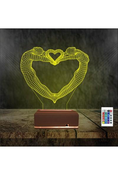 Algelsin 3 Boyutlu 3D Led Gece Lambası Masa Lambası