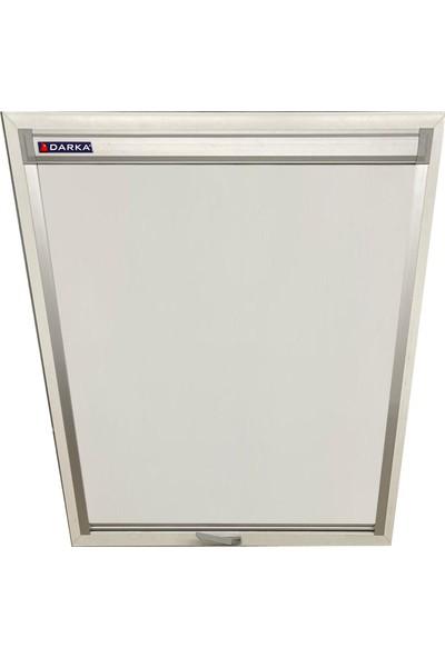 Darka 80 x 120 cm Raylı Siesta Perde Velux MK06 Uyumlu Beyaz