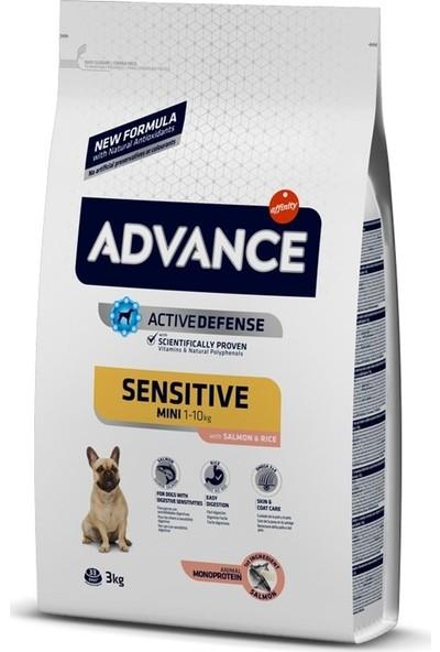 Advance Mini Sensitive Somonlu Küçük Irk Yetişkin Köpek Maması 3 Kg