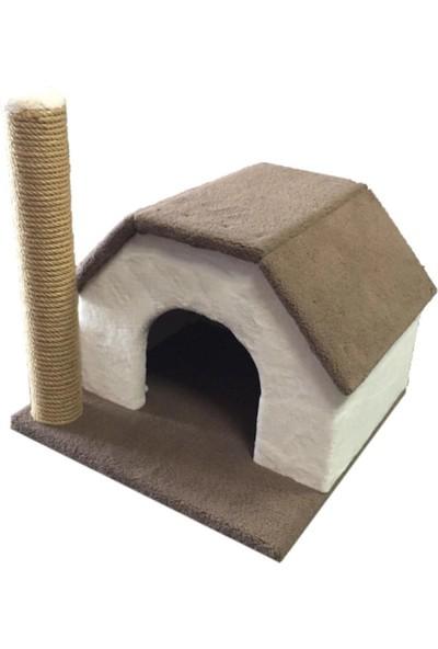 Tiger Pets Kedi Evi ve Tırmalama Tahtası Tek Katlı Oyun Evi Yatağı
