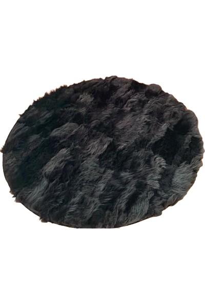 Bienna Fur Siyah Toskana Doğal Kuzu Tüyü Halı