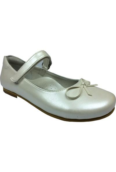Cici Bebe Filet Babet Ekru Kız Çocuk Ayakkabı