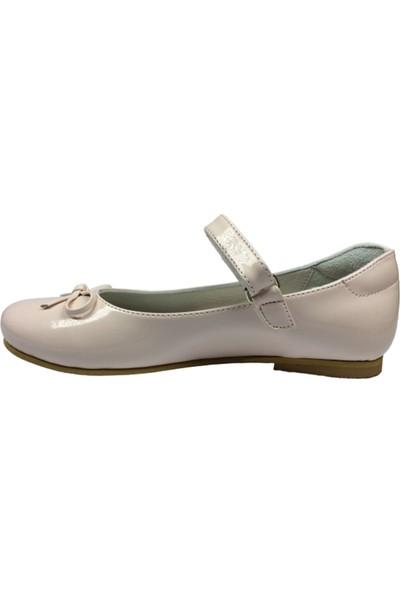 Cici Bebe Filet Babet Pudra Rugan Kız Çocuk Ayakkabı