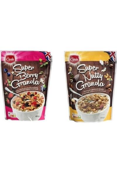 Fit Grains Grain Super Nutty & Grain Super Berry Granola Müsli Gevrek 450 gr