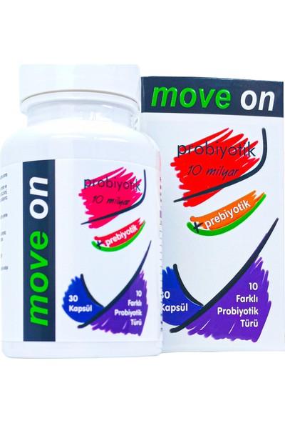 Move On Probiyotik 10 Milyar + Prebiyotik 30 Kapsül
