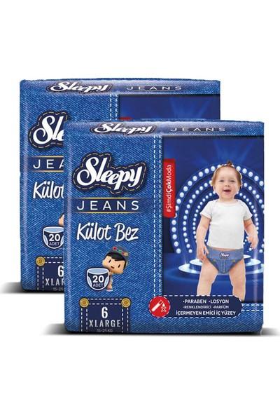 Sleepy Jeans Külot Bez X-Large 6 No 20'li x 2'li