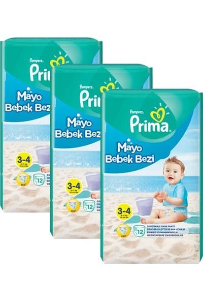 Prima Mayo Bebek Bezi 3 - 4 Beden 12'li x 3'lü