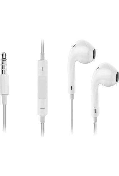 Ktools Mikrofonlu Stereo Kulaklık 150 cm Beyaz