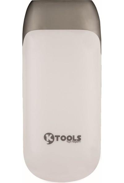 Ktools Style 5.600 mAh Powerbank LED Fenerli Beyaz
