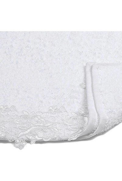 Felishome Fransız Dantelli Pamuk Ipliğinden 50 x 90 cm Havlu
