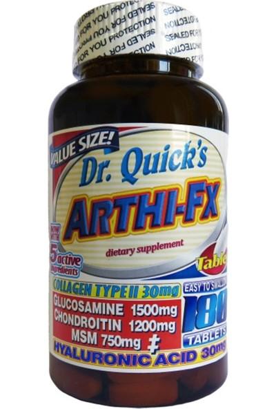 Dr Quicks Arthi-Fx Glucosamine Chondroitin Msm Hyaluronic Acid Collagen Type 2 180 Tablet