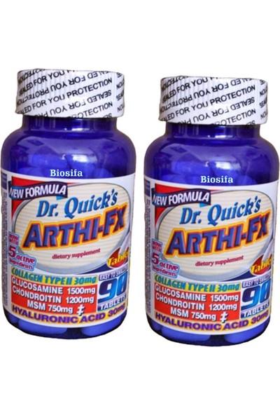 Dr Quicks Arthi-Fx Glucosamine Chondroitin Msm Hyaluronic Acid Collagen Type 2 90 Tablet 2 Adet