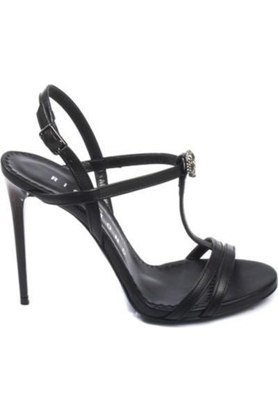 John Richmond Kadın Topuklu Sandalet Siyah 1935