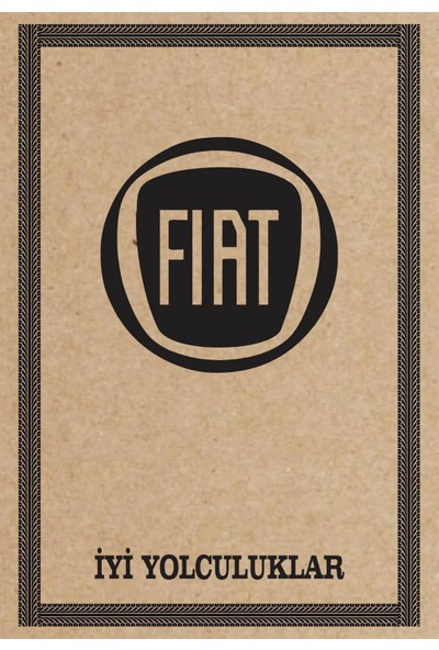 Cihan Oto Paspas Kağıdı Fiat Amblem Baskılı 100 Adet 35 x 50 cm