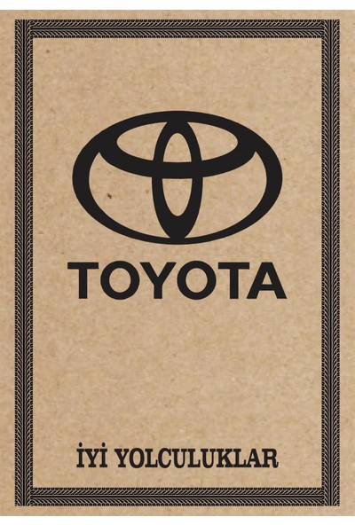 Cihan Oto Paspas Kağıdı Toyota Amblem Baskılı 100 Adet 35 x 50 cm