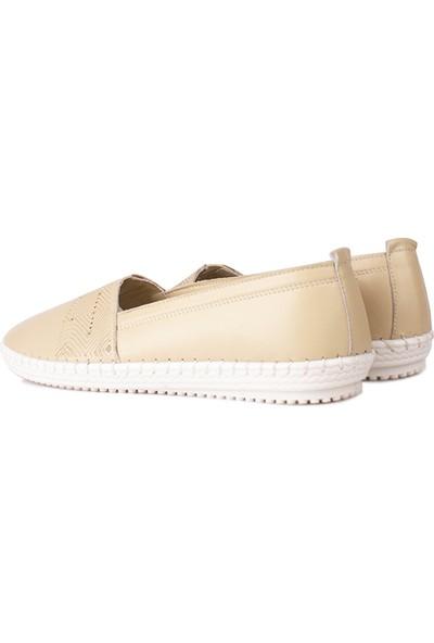 Erkan Kaban 625043 324 Kadın Ten Deri Günlük Ayakkabı
