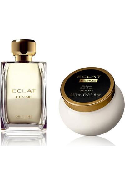 Oriflame Eclat Femme Edt 50 ml Kadın Parfümü + Eclat Vücut Kremi