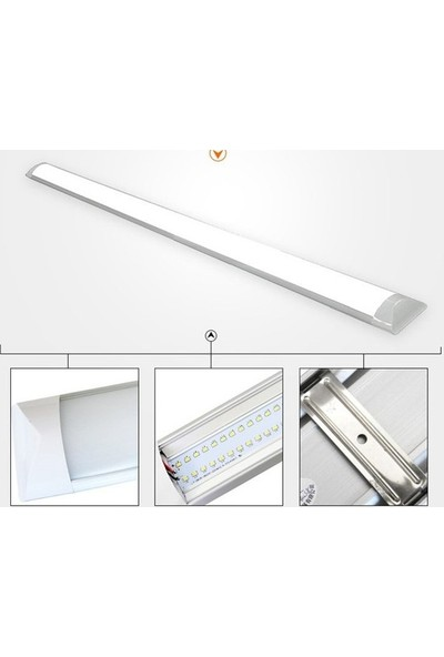Oviled LED Yatay Bant Armatür Ilık Beyaz 4000K 40 W 120 cm 2'li