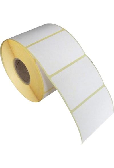 Zebra Barkod Etiketi Kuşe 100 x 150 cm 250 Sarım 1 Rulo