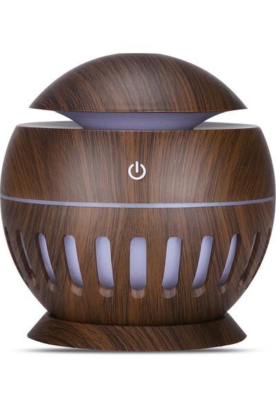 Yukka USB Hava Nemlendirici Aroma Difüzör Ultrasonik 7 Renk Ofis ve Ev İçin LED Işıklı