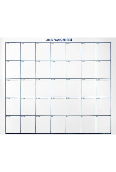 Evbuya Şeffaf Aylık Plan Akıllı Kağıt 110 x 100 cm