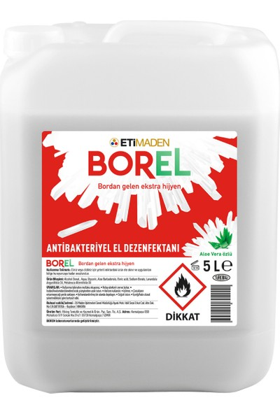 Eti Maden Borel Alkol Bazlı Antibakteriyel El Dezenfektanı 5 lt