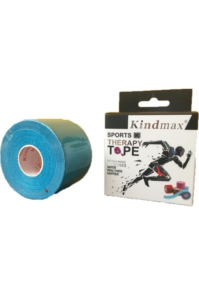 Kindmax Kinesio Sporcu Bandı 5 cm x 5 M Mavi