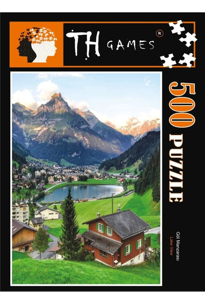 TH Games Göl Manzarası 500 Parça Puzzle