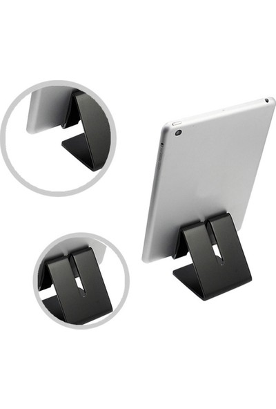 Yukka Sımu Mini Tablet Telefon Standı Siyah