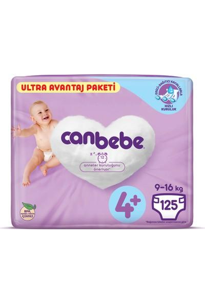 Canbebe Bebek Bezi Ultra Avantaj Paketi 4+ Beden 125 Adet