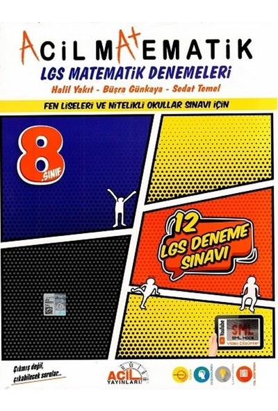 Acil Yayınları 8. Sınıf LGS Acil Matematik 12li Denemeleri