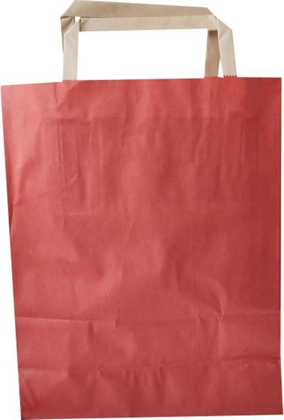 Umur Kırmızı Kulplu Kağıt Çanta 9 x 18 x 23 cm 50'li