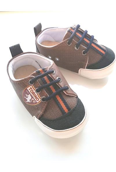 Love Baby Erkek Bebek Kahverengi Bağcıklı İlk Adım Ayakkabısı