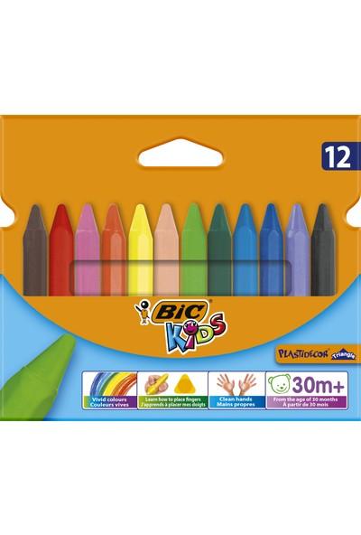 Bic Kids Plastidecor Üçgen Elleri Kirletmeyen Pastel Boya 12 Renk