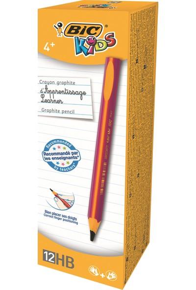 Bic Kids Evolution Üçgen Jumbo Kurşun Kalem Pembe 12'li Kutu
