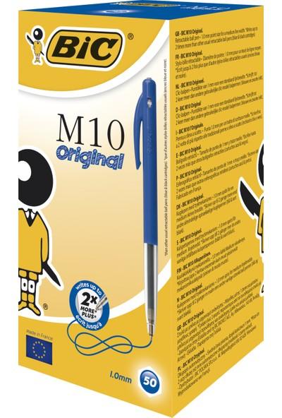 Bic M10 Basmalı Tükenmez Kalem Mavi 50'Li Kutu