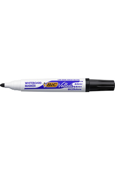 Bic Velleda 1701 Eco Yuvarlak Uçlu Beyaz Tahta Kalemi, Siyah