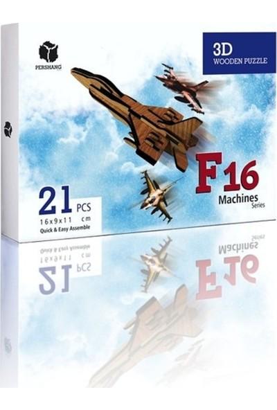 Pershang F-16 21 Parça Ahşap 3D Puzzle