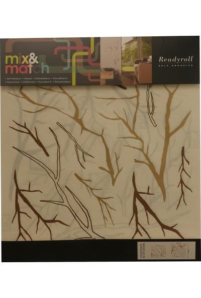 Mix&match Floral Kendinden Yapışkanlı Dekoratif Duvar Süsü